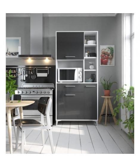 ECO Buffet de cuisine L 80 cm - Gris brillant