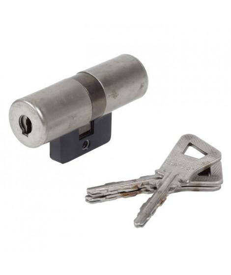 BRICARD BLOCTOUT 25821 Cylindre 33,5+33,5 mm a profil rond nickelé niveau de sécurité 2