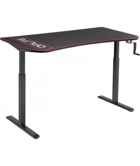 OPLITE Supreme Desk Bureau gaming e-sport avec hauteur ajustable 160x80x75 a 124cm