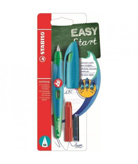 STABILO Stylo-plume EASYbirdy et 1 clé de réglage - Bleu et vert