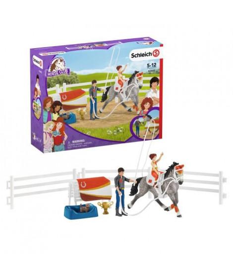 SCHLEICH - Figurine  Kit de voltige équestre Horse Club Mia