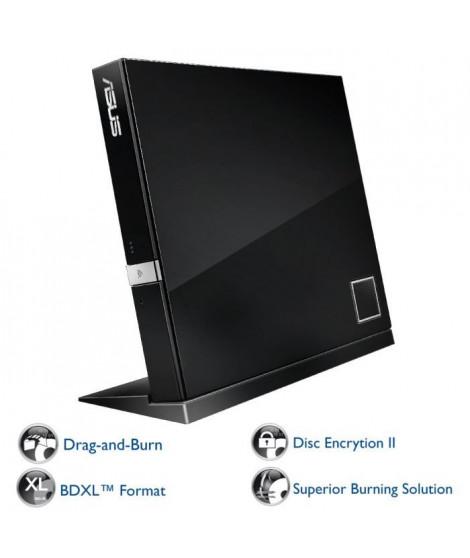 ASUS Lecteur de Blu-Ray et Disque réinscriptible SBC-06D2X-U/G/AS - Noir