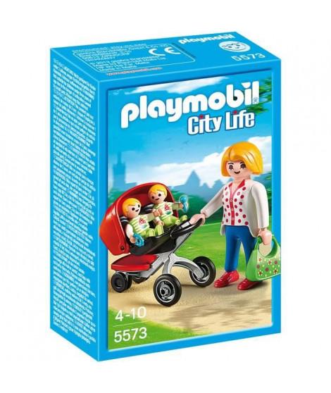 PLAYMOBIL 5573 - City Life - Maman avec Jumeaux et Landau