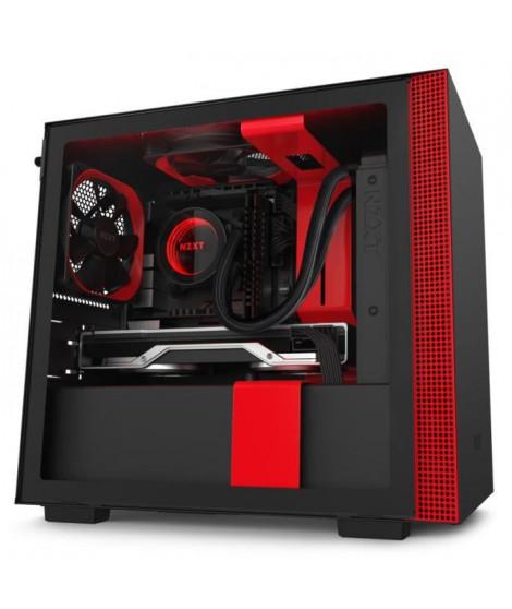 NZXT H210i Noir/Rouge - Boîtier mini tour avec fenetre latérale en verre trempé et rétroéclairage RGB ( Catégorie : Boîtier PC )