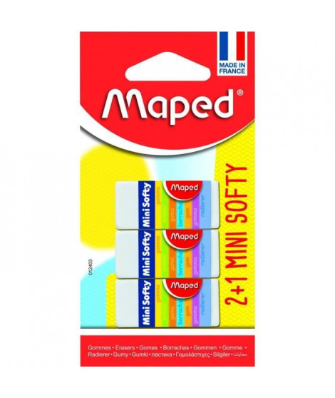 MAPED - 3 Gommes Mini Softy