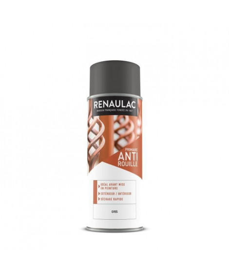 RENAULAC Peinture aérosol antirouille 0,4 L gris