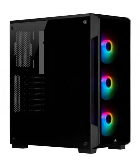 CORSAIR Boitier PC iCUE 220T RGB - Moyen-Tour - Verre trempé -Noir (CC-9011190-WW)