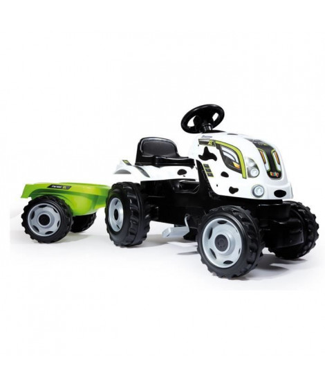 SMOBY Tracteur a pédales Farmer XL Vache + Remorque