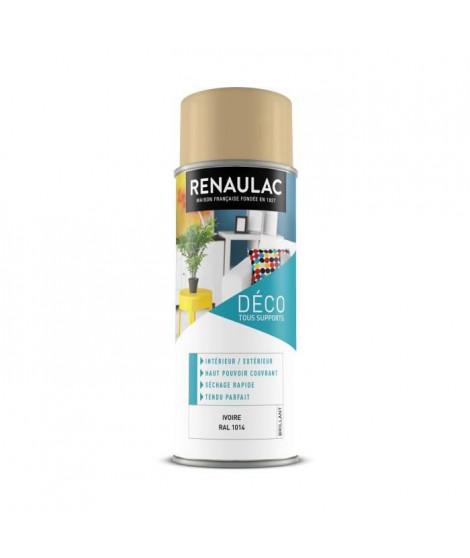 RENAULAC Peinture aérosol 0,4 L ivoire brillant
