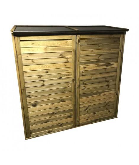 CHALET & JARDIN Armoire de jardin en bois Trocadero 2300 - Capacité 2300 L