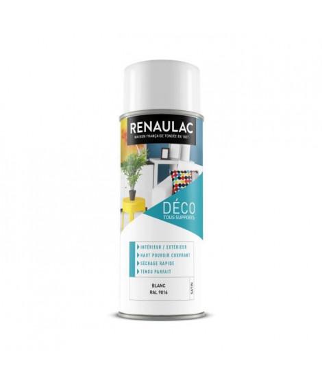 RENAULAC Peinture aérosol 0,4 L blanc satin