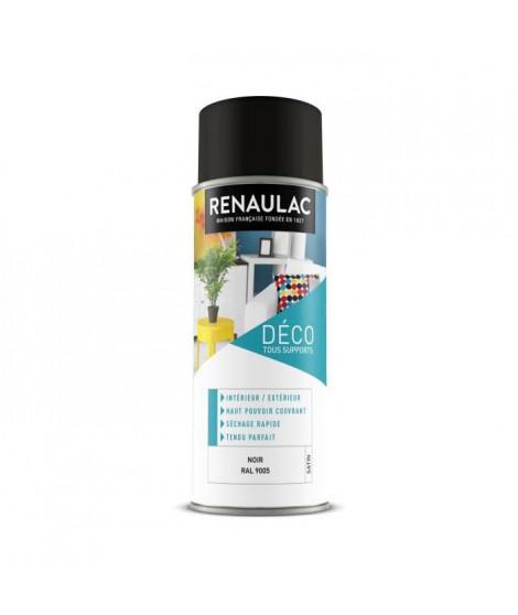 RENAULAC Peinture aérosol 0,4 L noir satin