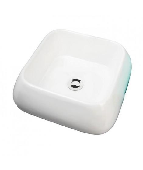 AQUA+ Vasque en céramique Ety L41xP41xH16 cm