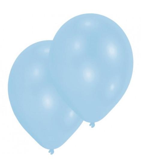 AMSCAN Lot de 10 Ballons en latex 27,5 cm 11 - Bleu pâle nacré