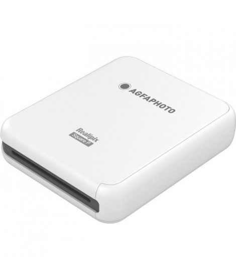 AGFA ASQP33WH Mini Imprimante Connectée Realipix Square Printer - 3*3 - Blanc