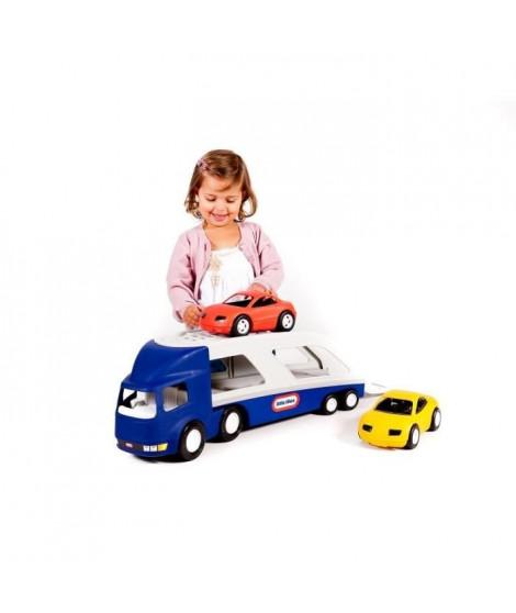 Little Tikes-Camion Porte vehicule avec 2 voitures de courses