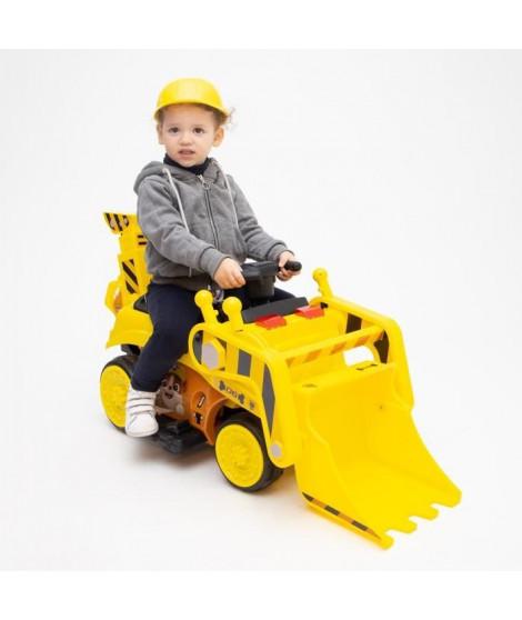 PAT PATROUILLE Voiture Electrique Camion de chantier Ruben avec pelle relevable