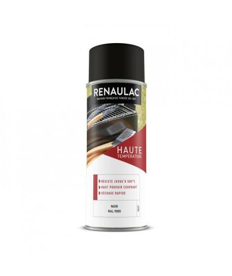RENAULAC Peinture aérosol haute température 0,4 L noir mat