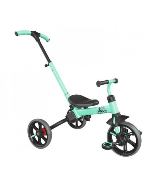 YVOLUTION Tricycle-draisienne évolutive Yvelo Flippa - Vert