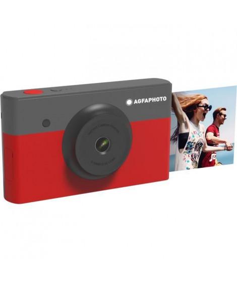 AGFA AMS23RD Mini Appareil photo imprimante 2en1 - 2*3 - Rouge