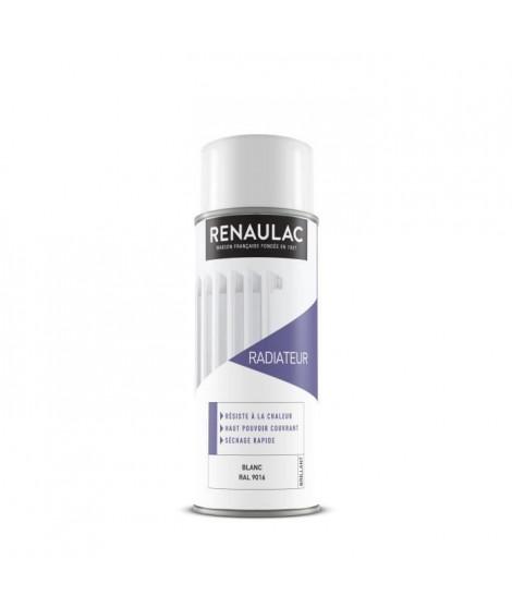 RENAULAC Peinture aérosol radiateur 0,4 L blanc brillant