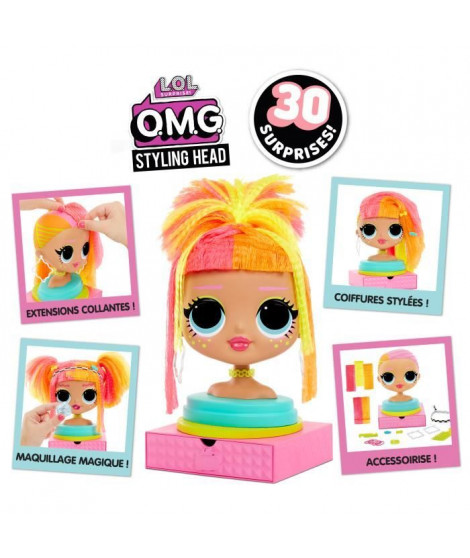 L.O.L. Surprise - O.M.G. Styling Head Neonlicious