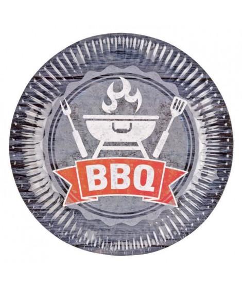 AMSCAN Lot de 8 assiettes BBQ Party 23 cm