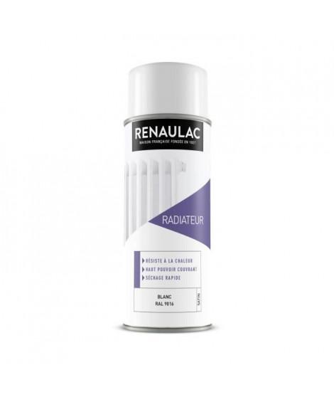 RENAULAC Peinture aérosol spéciale radiateur - 0,4 L - Blanc satin
