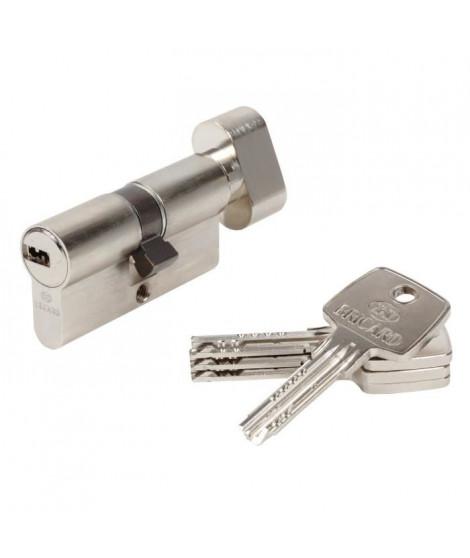 BRICARD ASTRAL 15711 Cylindre 30+30 mm a bouton laiton nickelé niveau de sécurité 3