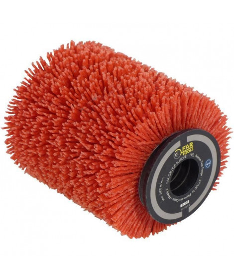 Brosse nylon abrasifs Ø80mm - L 100mm pour décrasser/dégriser/nettoyer
