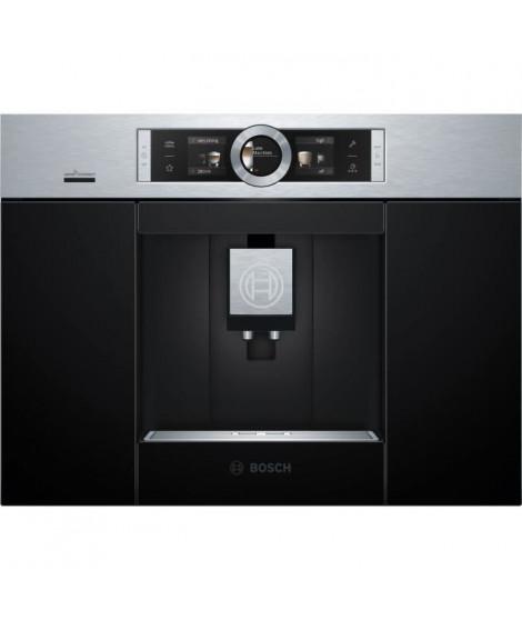 BOSCH CTL636ES6 Machine a café HomeConnect - Réservoir 2.4L - Prépare 2 tasses simultanément - Inox