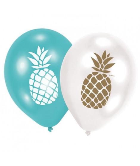 AMSCAN Lot de 6 Ballons Ananas 27,5 cm 11