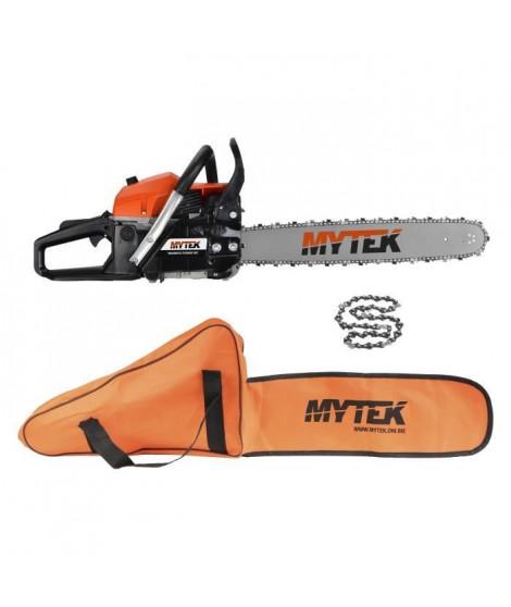 MYTEK Pack Tronçonneuse 58CC - Chaîne et Housse - Taille de coupe 50cm
