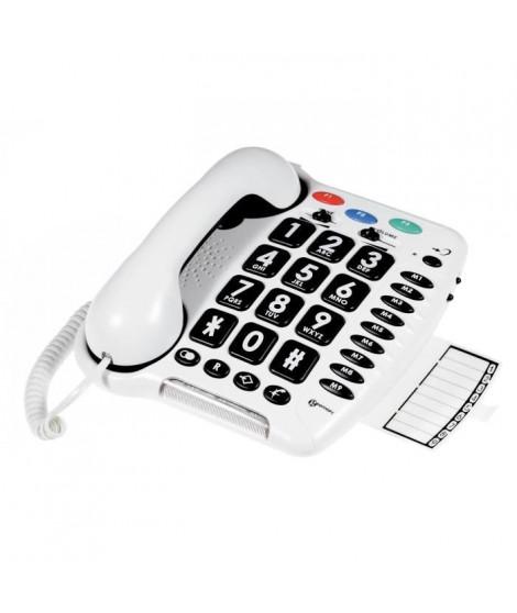 GEEMARC Téléphone fixe grosses touches sénior amplifié CL 100