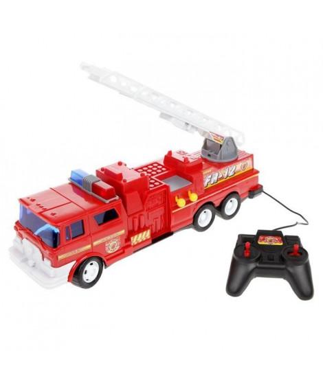 TEAM HERO - Camion pompiers télécommandé avec échelle
