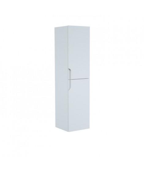 Colonne de salle de bain 2 portes H 120 cm - Blanc - RONDO