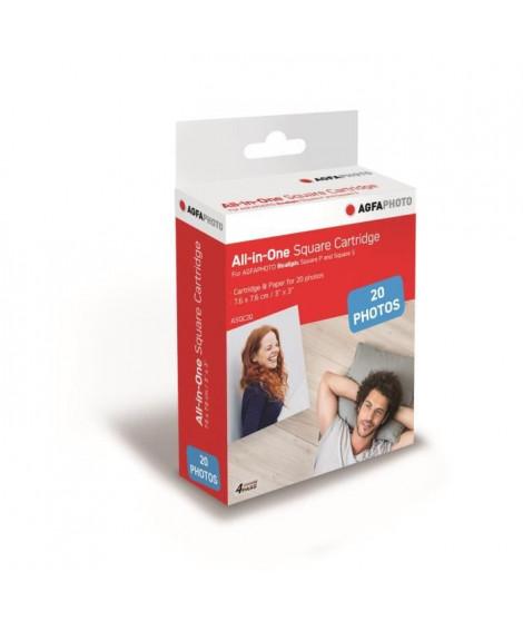 AGFA ASQC20 Cartouche Imprimante Photo Realpix Square S - 3*3 - 20 sheets