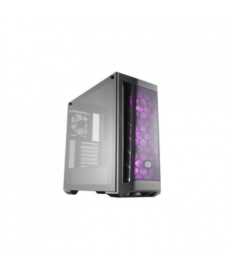 Cooler Master - MasterBox MB511 RGB - Boitier PC Gaming ( Moyenne Tour ATX, Panneau en verre trempé, Façade Mesh, 3x120mm RGB…