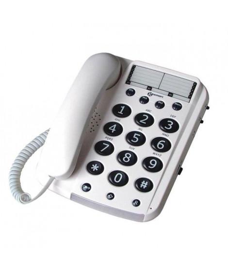 GEEMARC Téléphone grosses touches séniors bi-bloc DALLAS 10