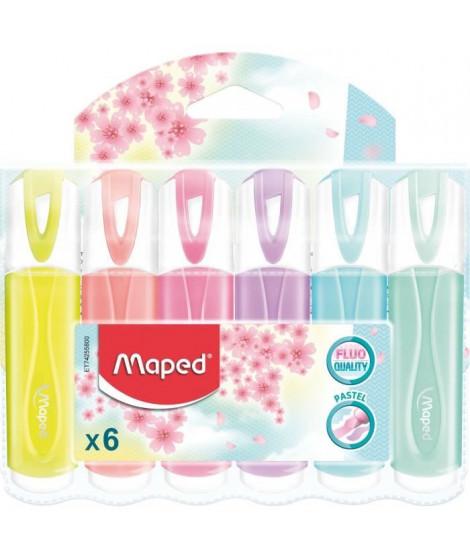 MAPED 6 Surligneurs Pastels Assortis