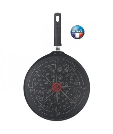 TEFAL - Poele a pizza - 32 cm - Tous feux sauf induction - Noir -  Fabriquée en France
