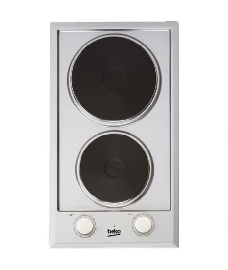BEKO - HDCE32200X - Domino de cuisson électrique - 30 cm - 6 niveaux de puissance - 2500 W - Inox