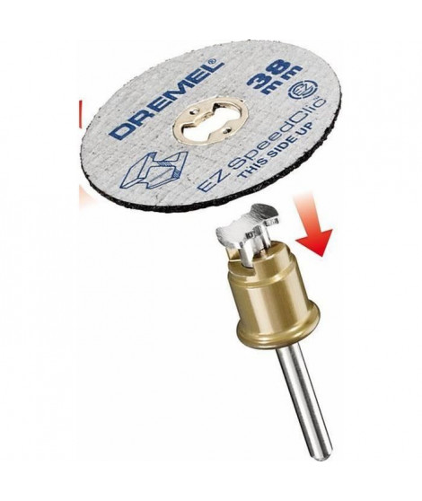 DREMEL Adaptateur EZ Speedclic+2disques tronçonner