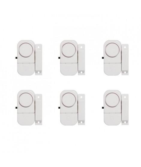 CHACON Lot de 6 mini-alarmes d'ouverture et avertisseurs d'entrée