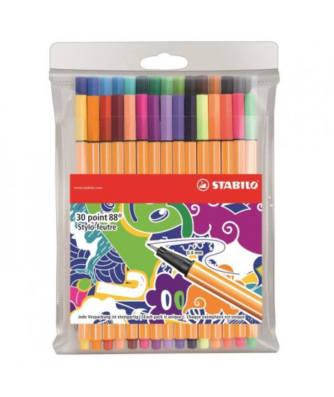STABILO 30 stylos-feutres Individual just like you - Point 88