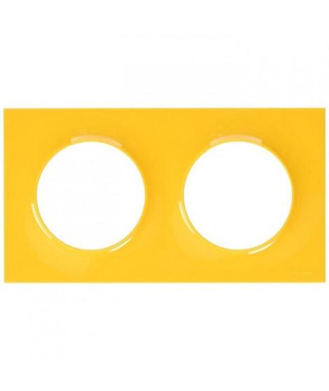 SCHNEIDER ELECTRIC Plaque de finition 2 postes Odace Styl ambre