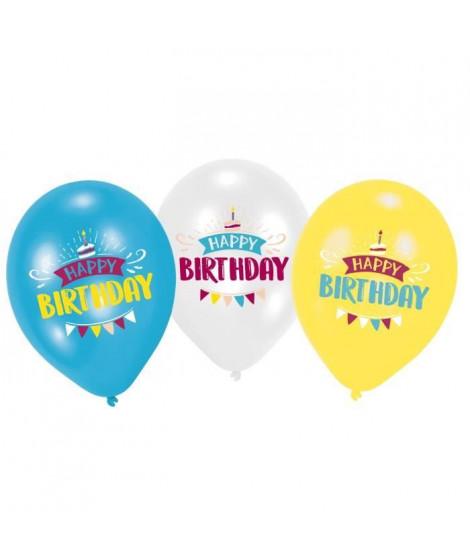 AMSCAN Lot de 6 Ballons imprimés My Birthday Party - 27,5 cm/11