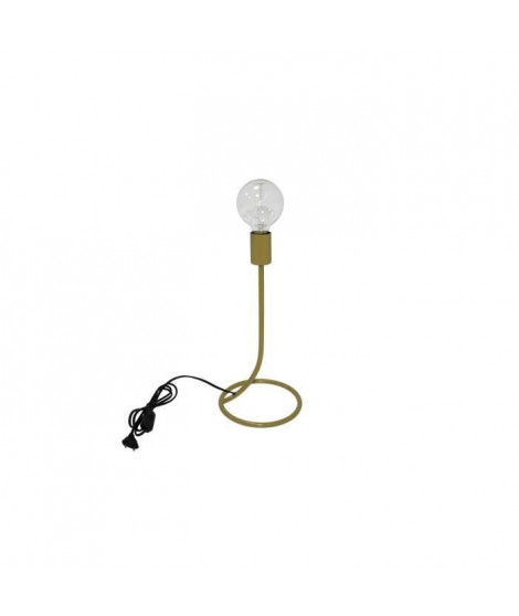 AGWO Lampe de table en métal - 20 x 20 x H.40 cm - Or - E27 40W