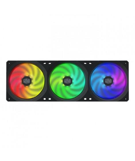 COOLER MASTER MasterFan SF360R ARGB - Ventilateur de boitier ARGB PWM - 650-1800 RPM - 3x 120mm