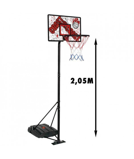 CDTS Panneau de Basket avec Socle Lestable - Hauteur max. 2,05m